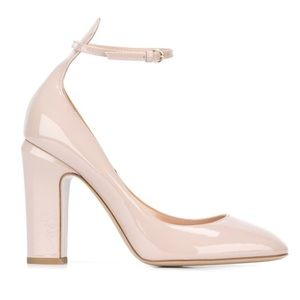 Valentino Tan-Go Ankle-Strap Patent Leather Pumps